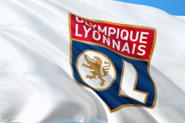 drapeau lyon de football