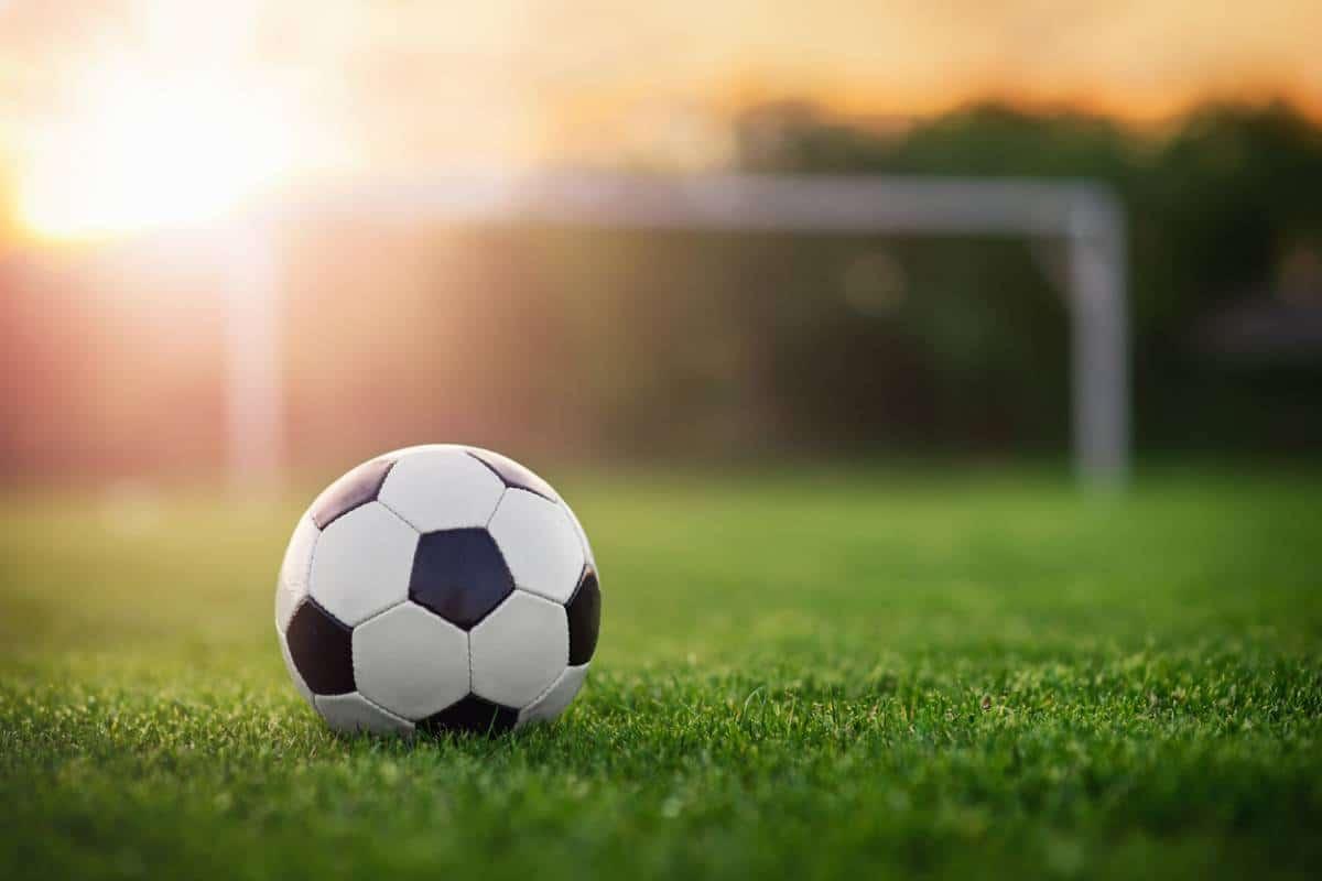 ballon sur une pelouse verte